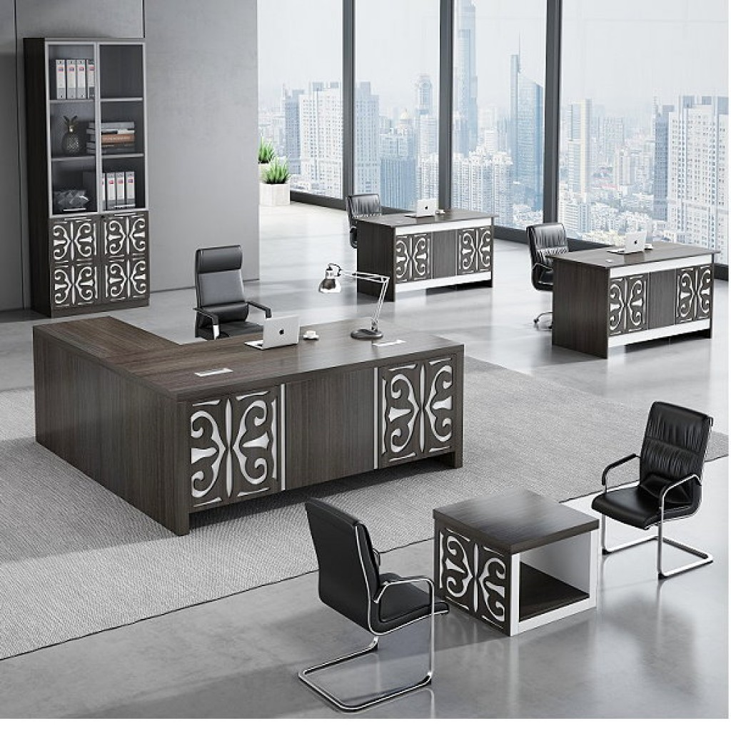 34946-8003 Acrylic Decoration of Wooden Office Set