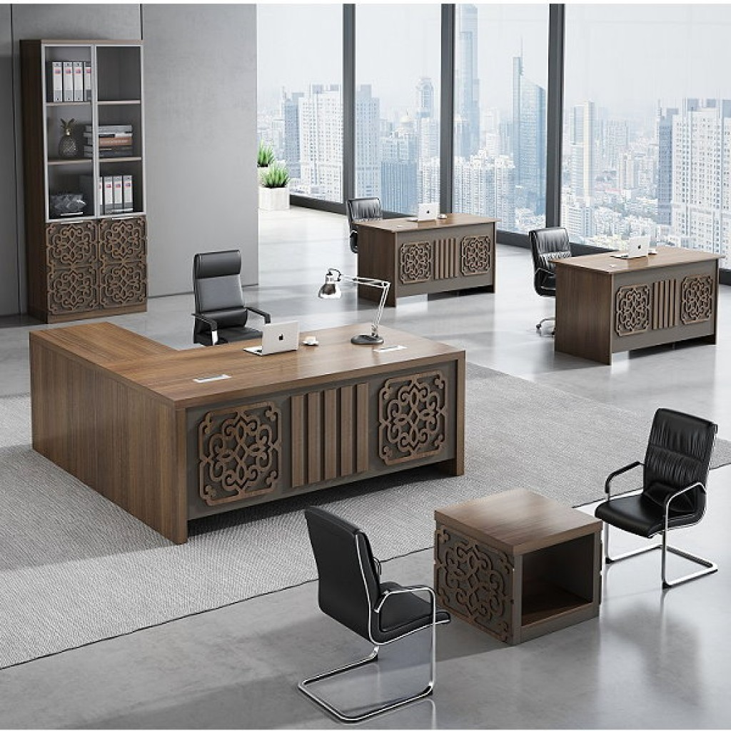 34946-8006 Acrylic Decoration of Wooden Office Set