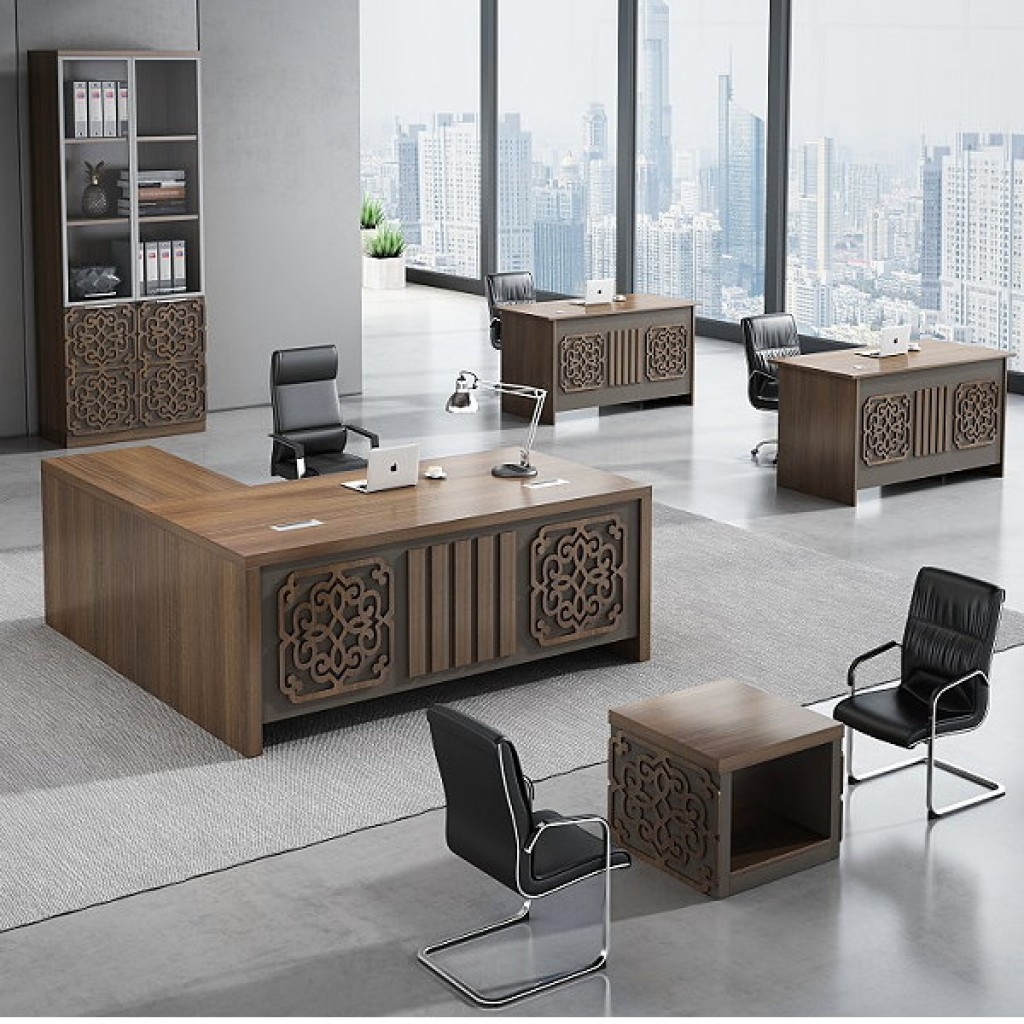 34946-8007 Acrylic Decoration of Wooden Office Set