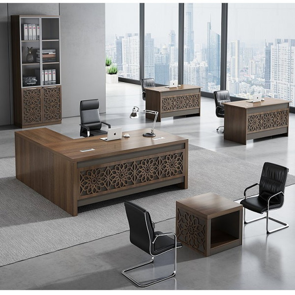 34946-8009 Acrylic Decoration of Wooden Office Set