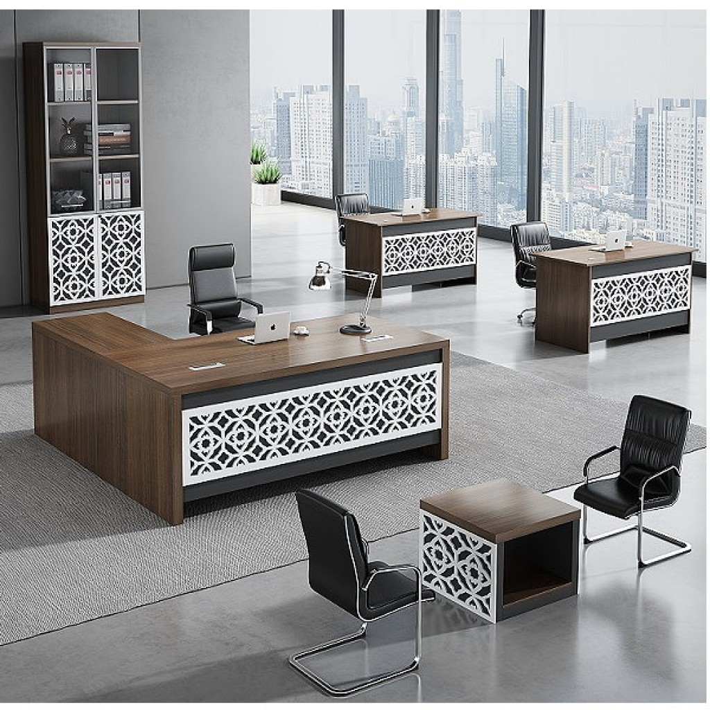 34946-8010 Acrylic Decoration of Wooden Office Set