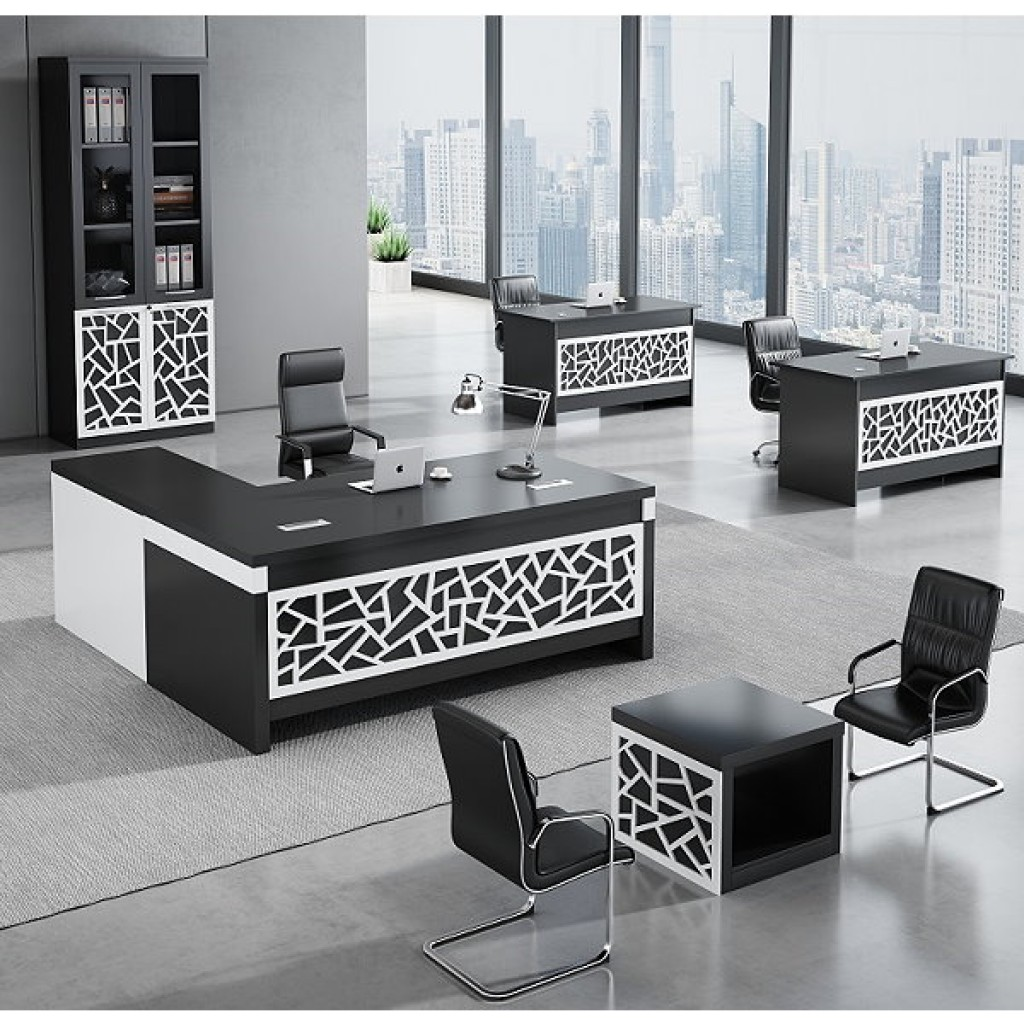 34946-8011 Acrylic Decoration of Wooden Office Set