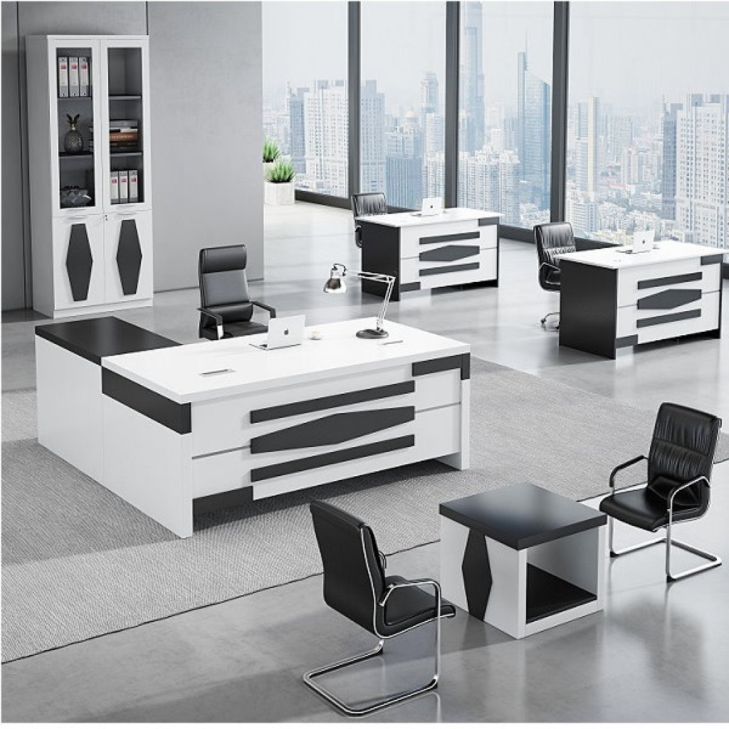 34946-8012 Acrylic Decoration of Wooden Office Set