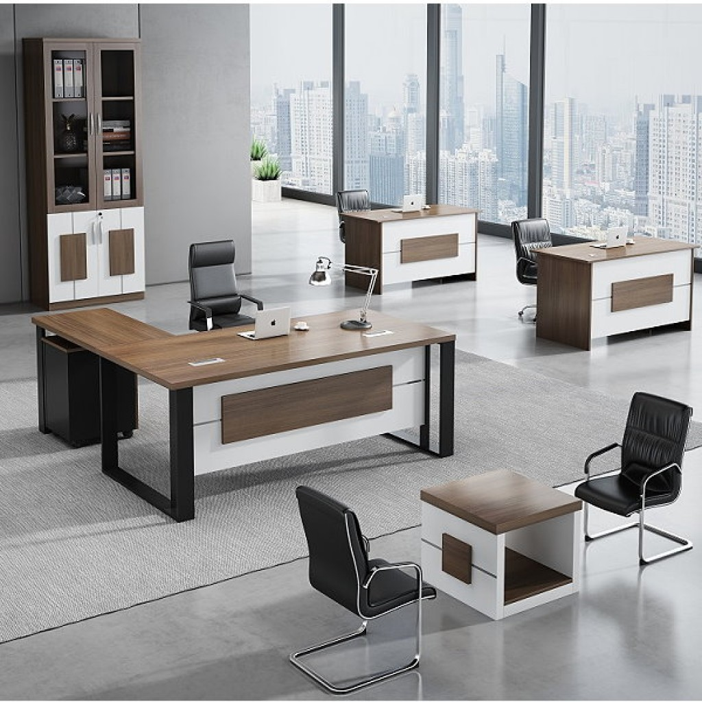 34946-8016 Acrylic Decoration of Wooden Office Set