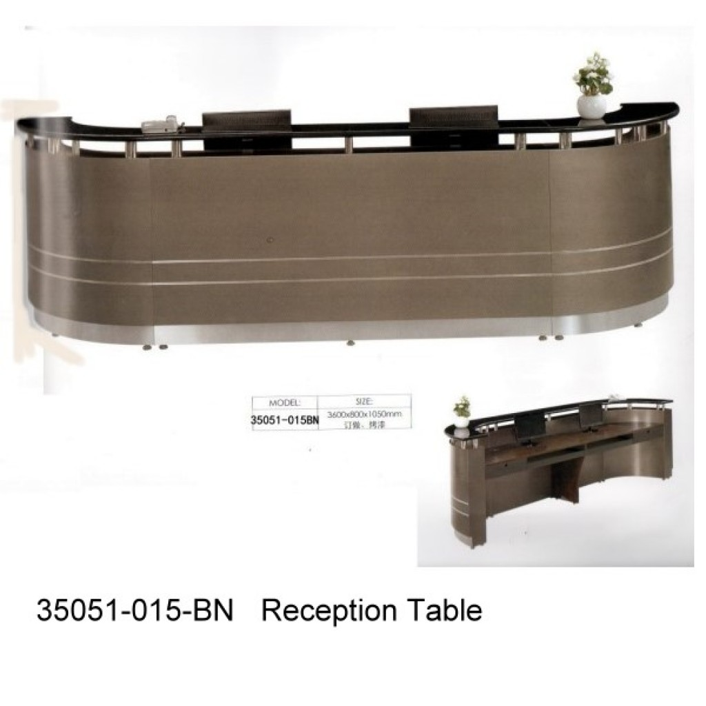 35051-15BN Wooden Reception Table