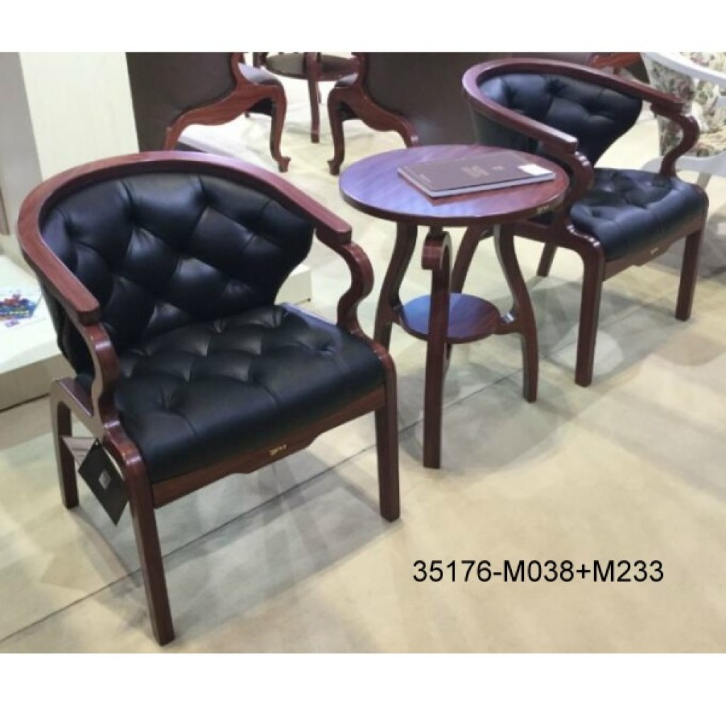 35176-M038+M233 Wood table chair sets