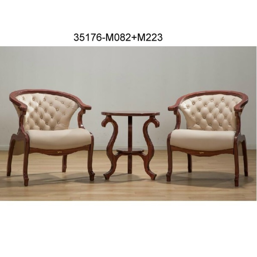 35176-M082+M223 Wood table chair sets