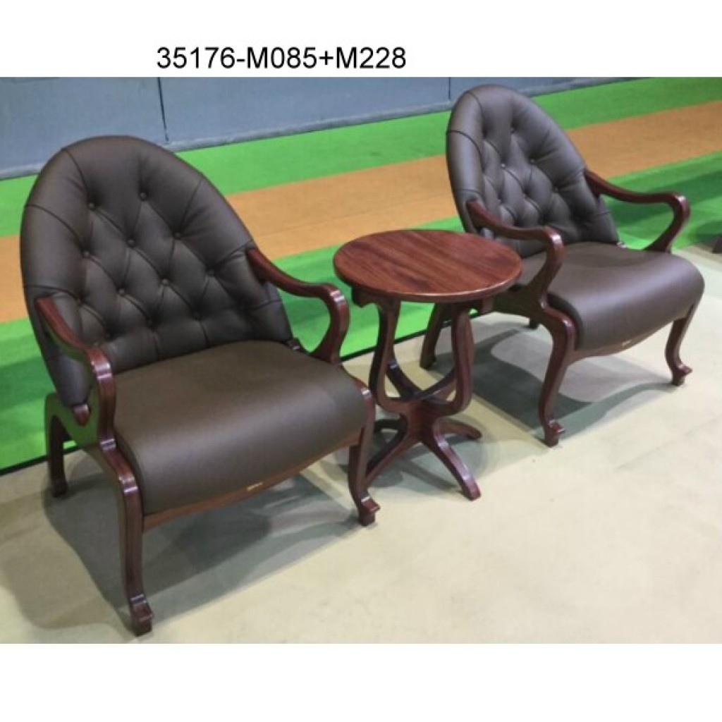 35176-M085+M228 Wood table chair sets