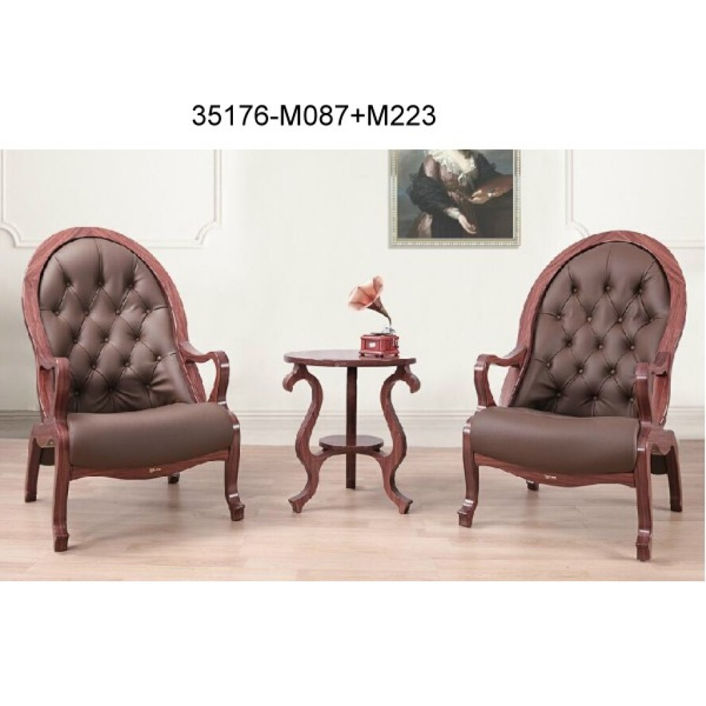 35176-M087+M223 Wood table chair sets