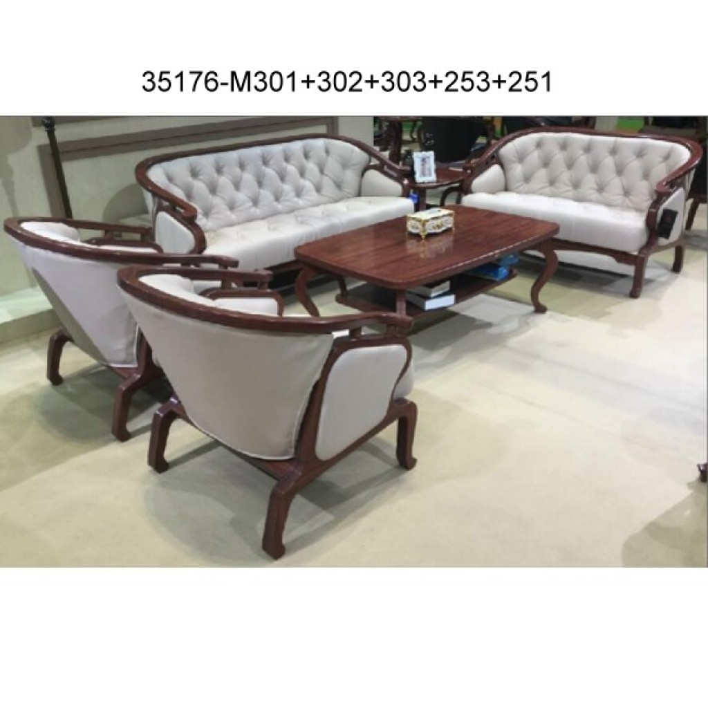 35176-M301+302+303+253+251 Wood sofa sets