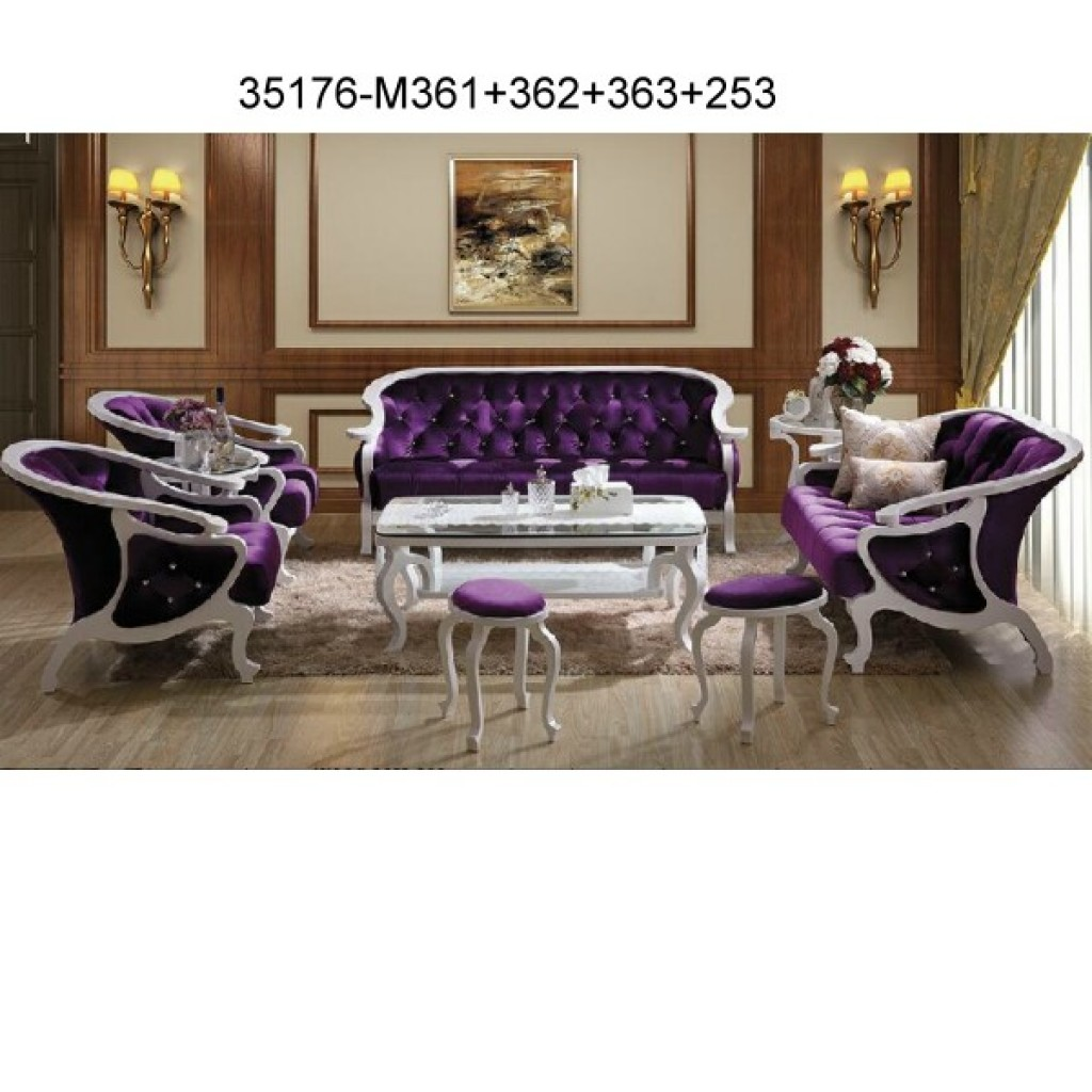 Wood sofa set 35176-M361+362+363+253