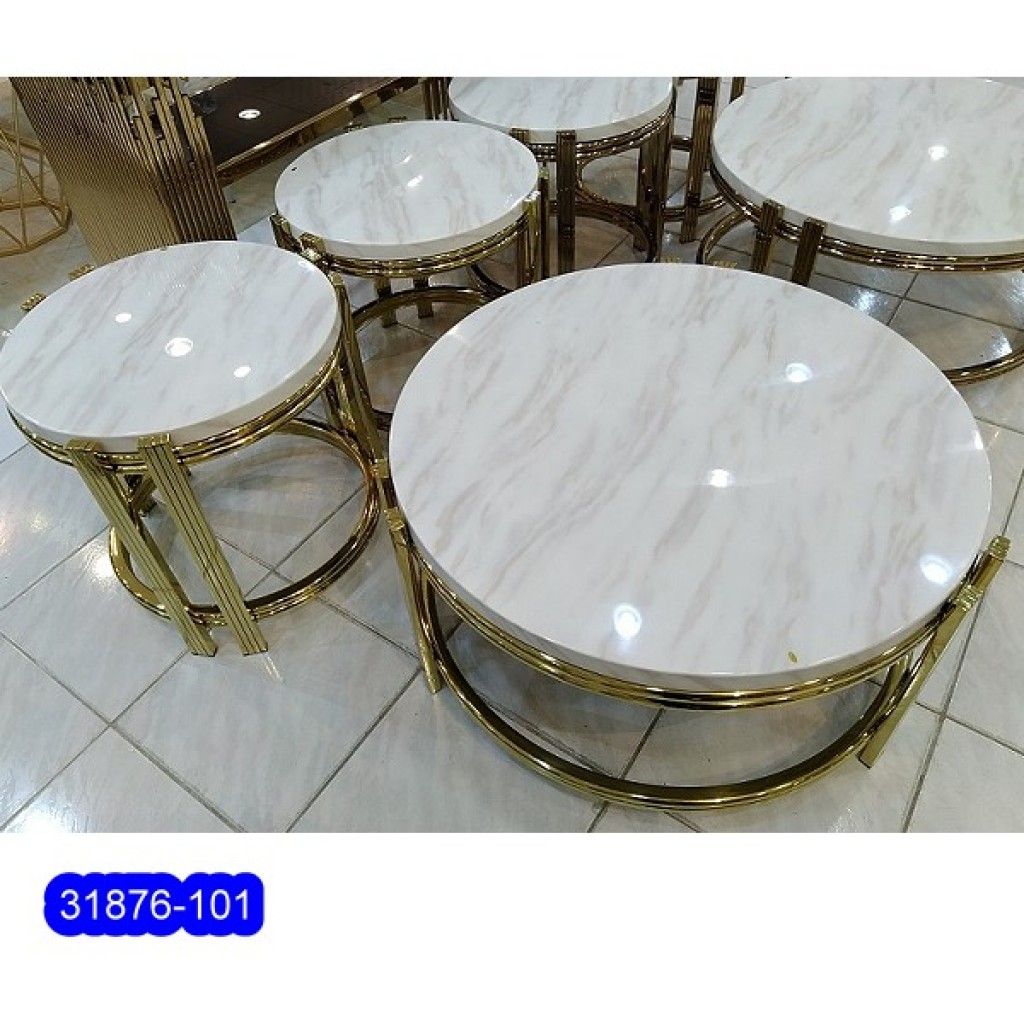31876-101  1+2/set Stainless Steel  Coffee  Table