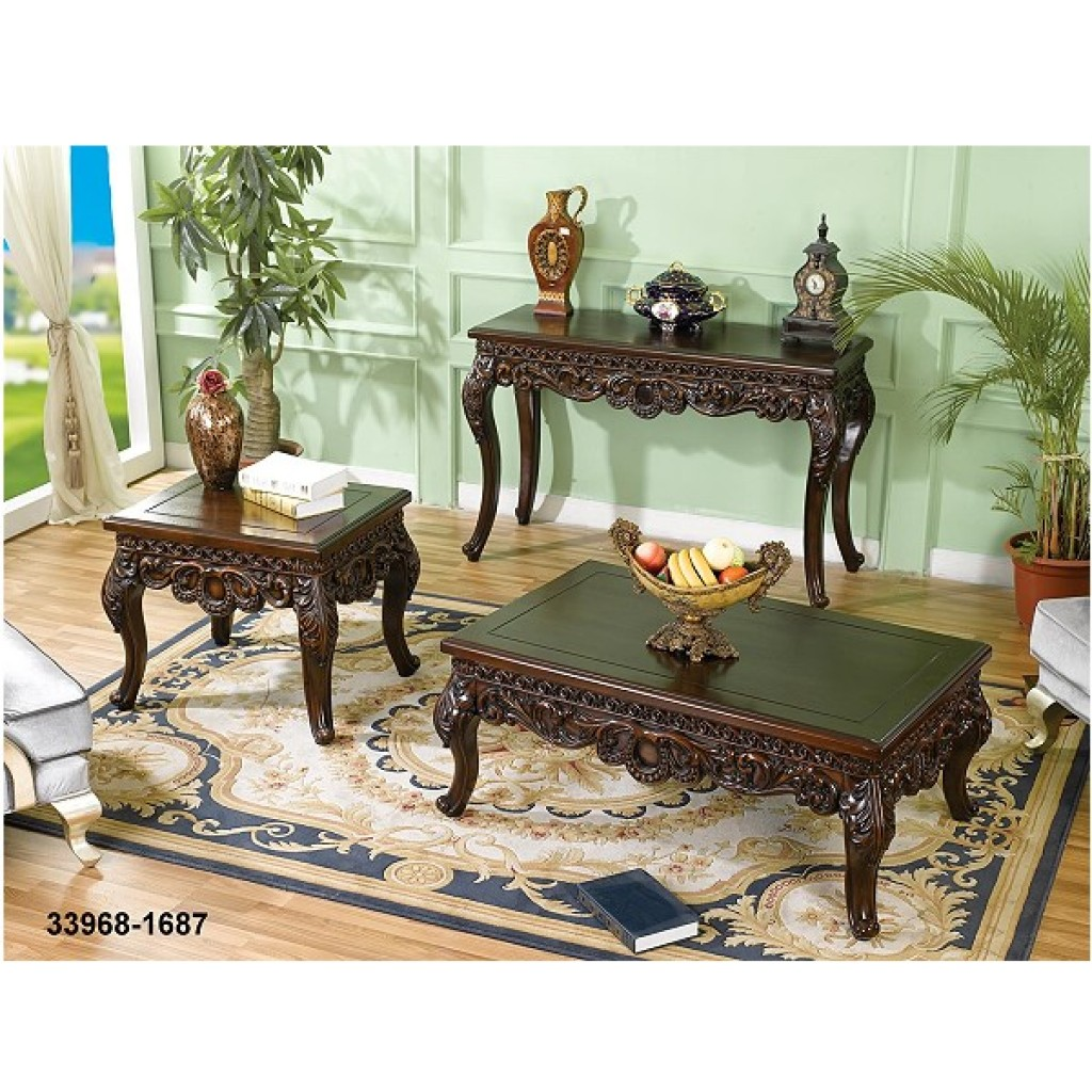 33968-1687 Wooden Coffee Table/ Console/ Mirror