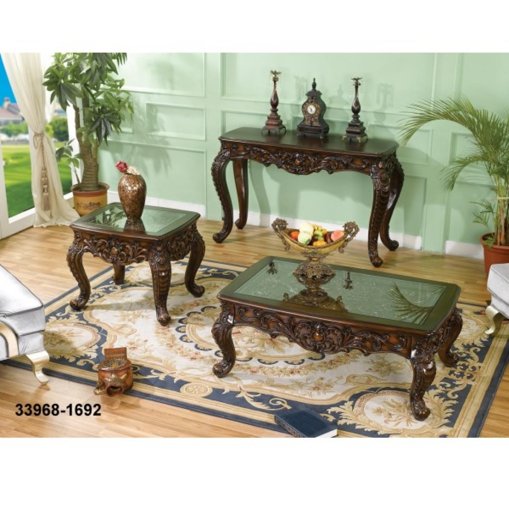 33968-1692 Wooden Coffee Table/ Console/ Mirror