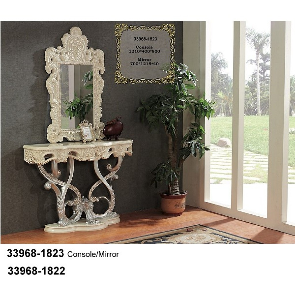 33968-1823 Wooden Console / Mirror