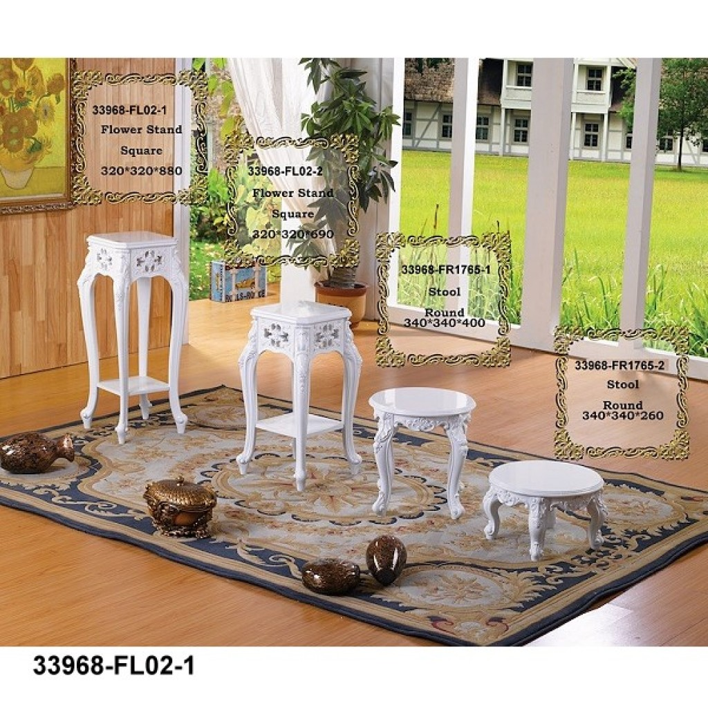 33968-FL-02  Wooden Flower Stand