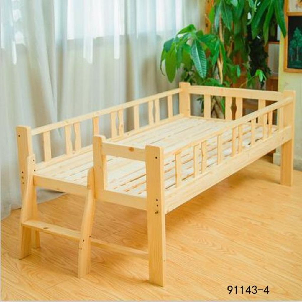 91143-4 kid's wooden bed