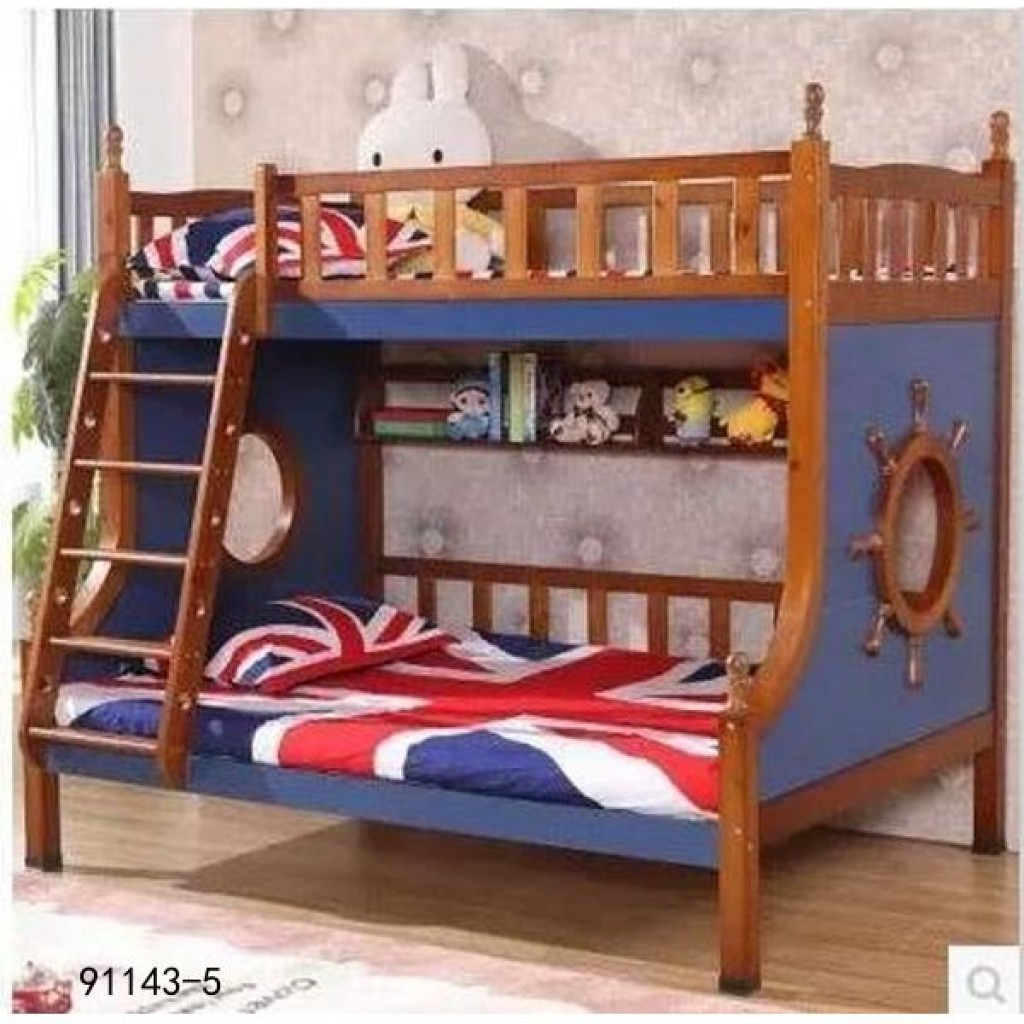91143-5 kid's wooden bed