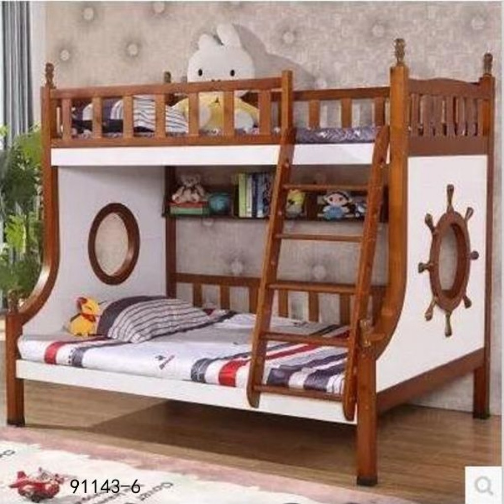 91143-6 kid's wooden bed