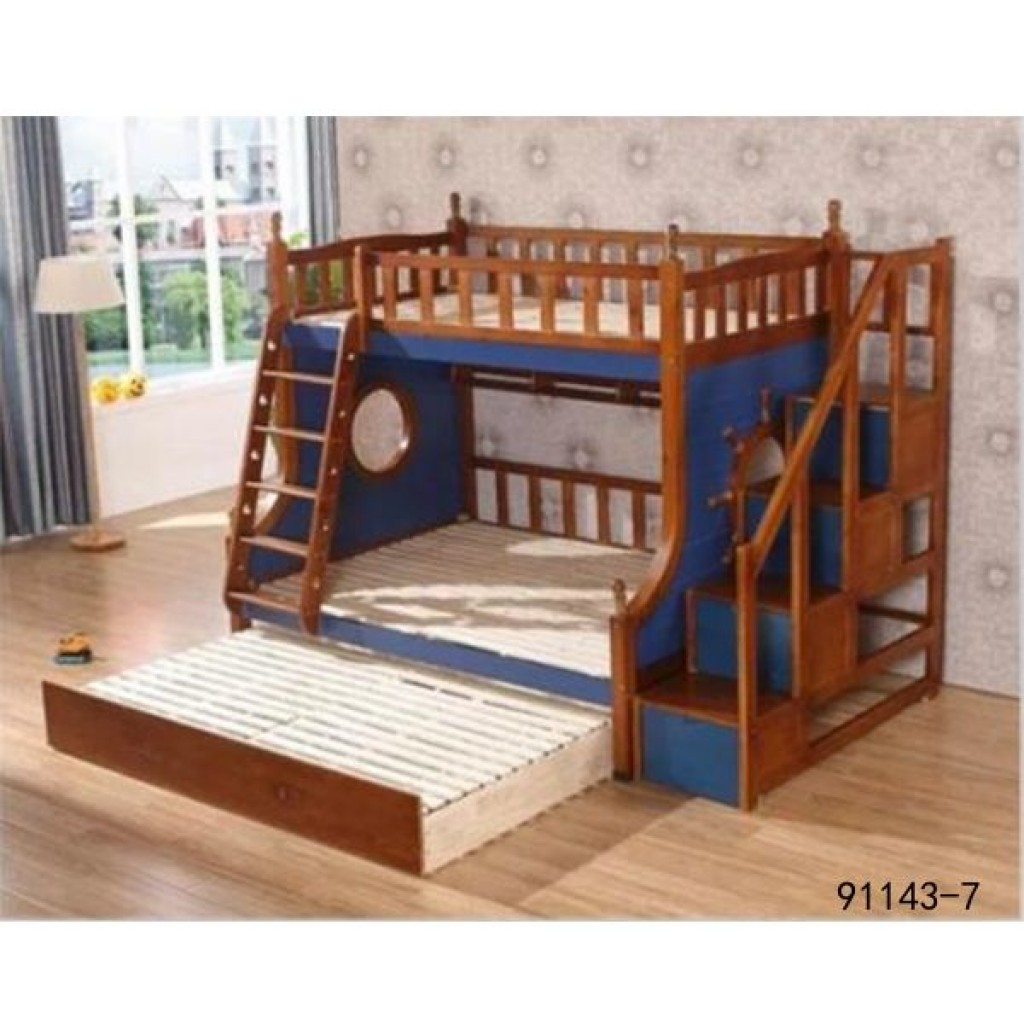 91143-7 kid's wooden bed