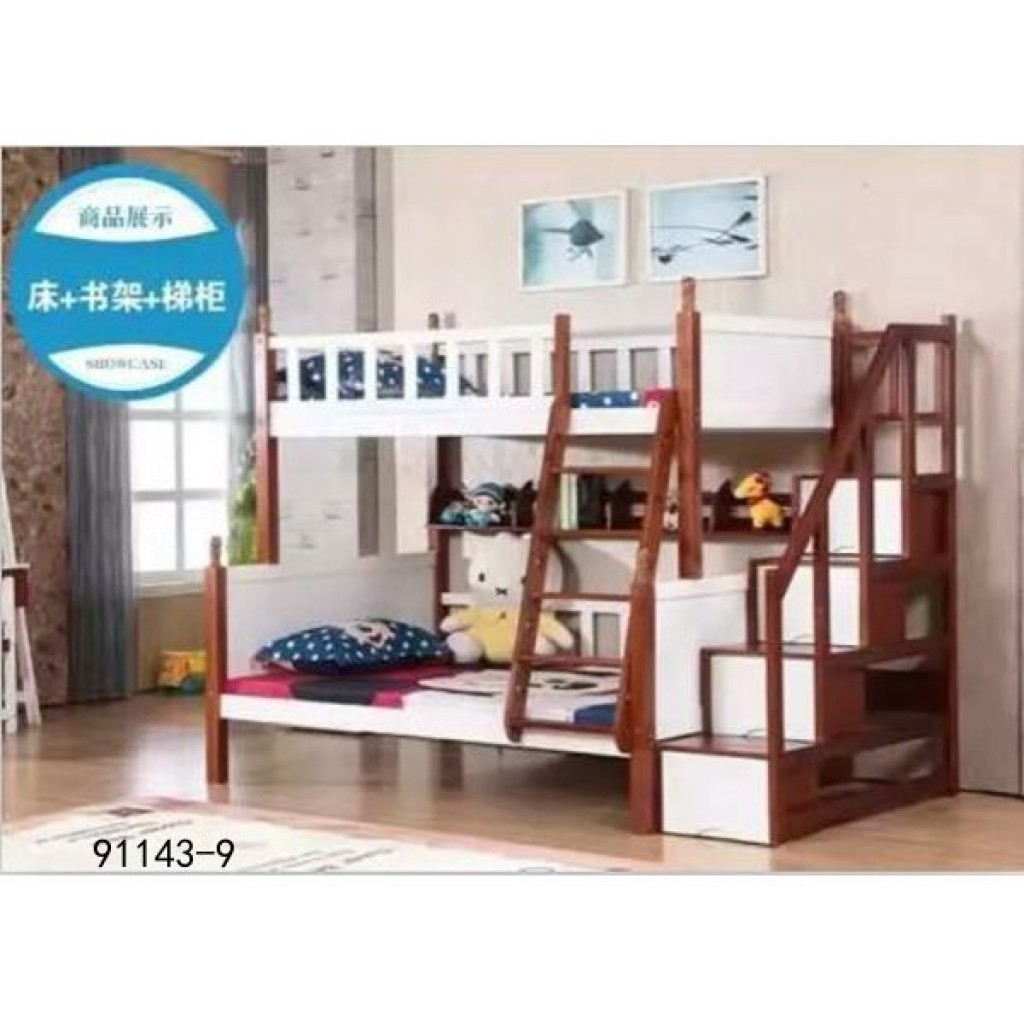 91143-9 kid's wooden bed