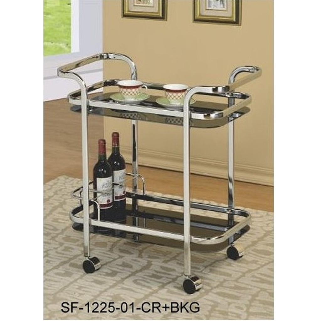 SF-1225CR+BKG Metal Steel Tea Trolley